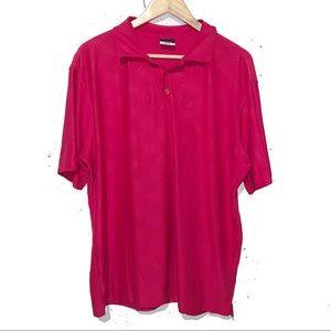 Nike Golf Men's Button Polo Pink Textured